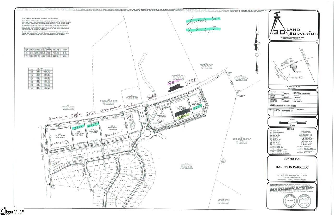 Great location for commercial and medical office complex. Located just off Harrison Bridge Road in front of Cottages at Harrison Bridge community and approximately 1/2 mile from the Fairview Road intersection. Land to be subdivided into individual lots. Lots will be subdivided and priced accordingly and sold from $263,000 and up depending on specific requirements and location of the lot.