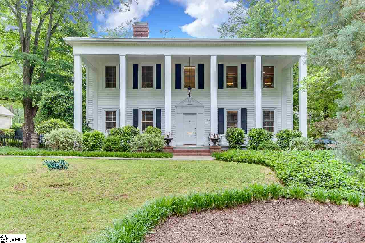 Stunning colonial home, built by Greenville's famous architect & builder, Willie Ward. .46 acre lot