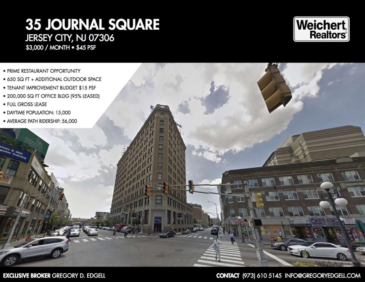 35 JOURNAL SQUARE PLAZA, JC, Journal Square, NJ 07306