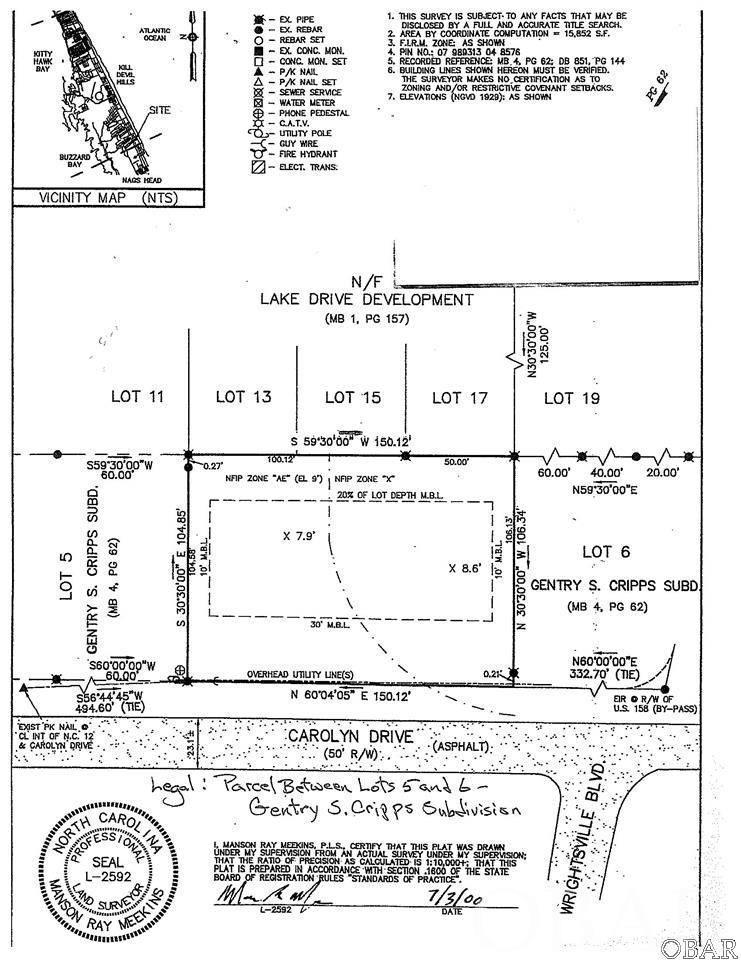 0 Carolyn Drive,Kill Devil Hills,NC 27948,Lots/land,Carolyn Drive,95722