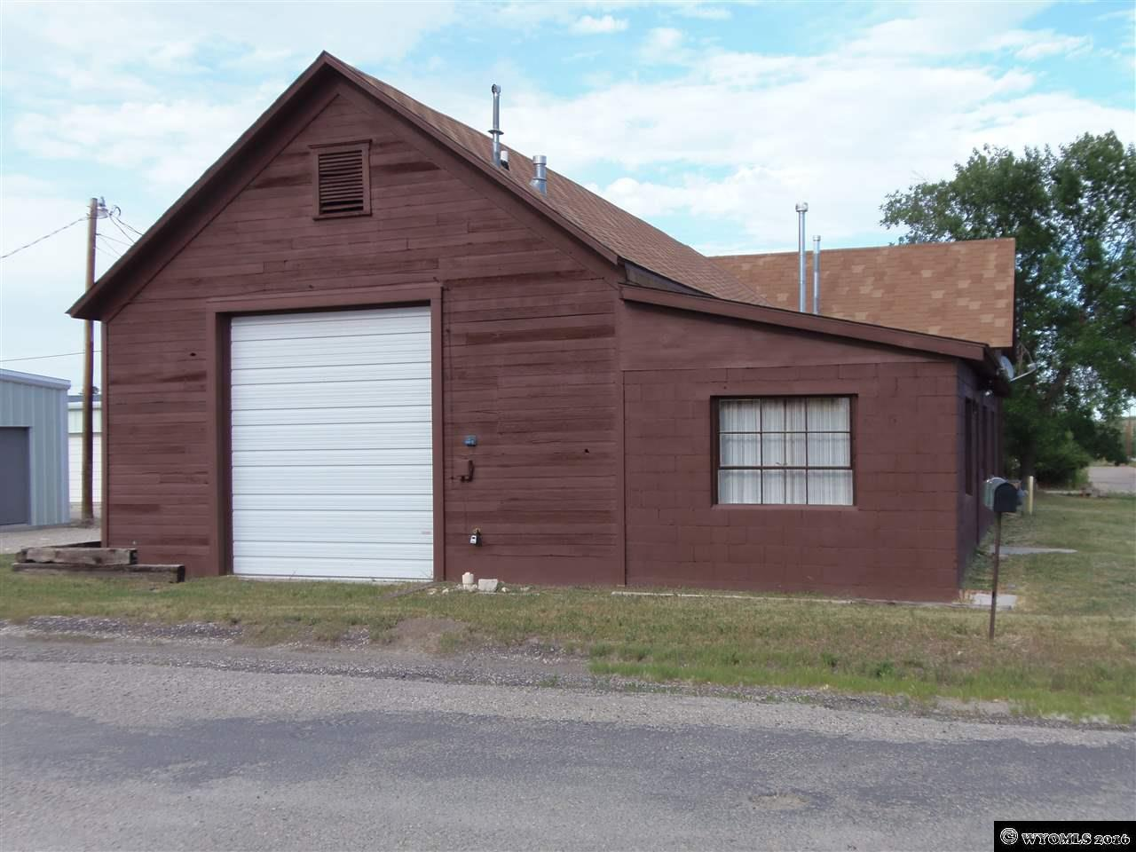 Commercial or residential, this building has many uses and much potential. Large shops and a nice office or two bedroom home. Call today to see. 307-684-7972