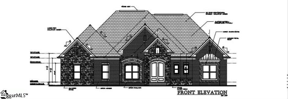 To Be Built Custom Home.  Floor plan attached, or you can design another plan.  Build your dream home on this secluded cul-de-sac lot located in Montebello, Greenville's prestigious European style gated community. This home site offers a lower level option and borders a wooded common area. This premier community offers breathtaking views, spectacular sunsets, numerous beautifully landscaped parks, natural rock formations, several ponds, fountains, stocked fishing lake and four gated entries. An Italian inspired clubhouse, pool, tennis, playground, bocce ball court and four hole putting green complete the extensive amenities package. Montebello is just minutes from Downtown, Furman, Cherrydale and Paris Mountain State Park. 2018 HOA dues - $1600.00 Lot Registration Fee - $300. New construction fee: $2000 non-refundable road usage fee.