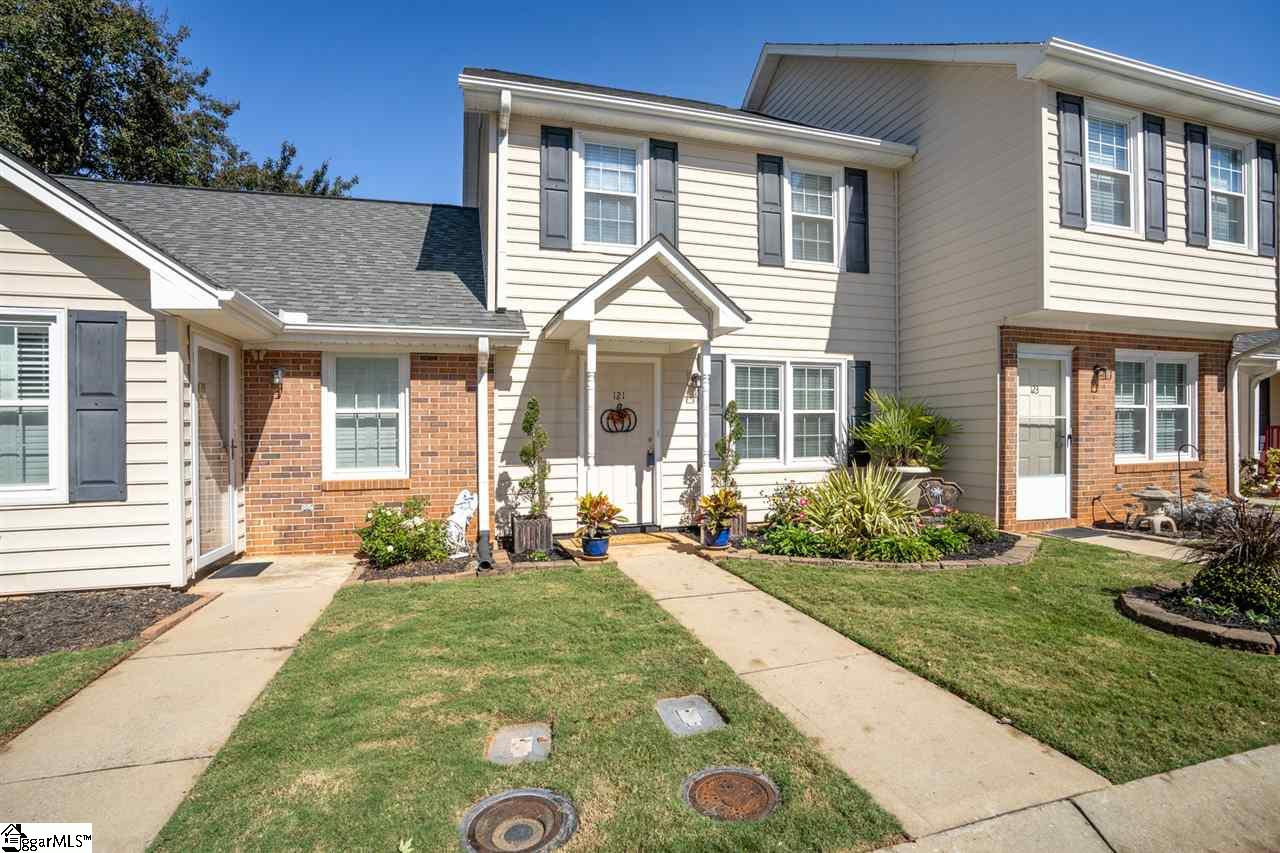This inviting two-story townhome is nestled in a great community in the heart of Mauldin. It's also zoned for award-winning schools! You'll enjoy low-maintenance living since the HOA takes care of lawn maintenance and exterior maintenance. As you enter, you'll be greeted by a very functional floor plan, with a great flow for entertaining and everyday living. The water heater is like new and the carpets have been deep cleaned. The kitchen offers ample cabinet and counter space. Refrigerator to convey, with an acceptable offer and as part of the sales contract. The bedrooms are located upstairs and are both spacious in size. The 2nd bedroom features brand new carpet. The large patio, with attached storage closet and privacy divider/fence, will be perfect for grilling out, entertaining, or just relaxing after a long day. This outdoor area could also be fenced in for pets, if needed. Centrally located just minutes from all of the shopping and dining that Maulding has to offer! The library is just a 1-minute drive away and Sunset Park (which includes ball fields and walking trails) is within walking distance, right next to the neighborhood. Also conveniently located near I-85 and just 15 minutes from Downtown Greenville. Come see your new home, today!