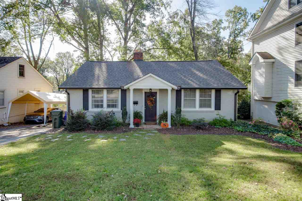 "It's THE ADDRESS!!! Charm and nostalgia in Country Club Estates in the heart of the popular Augusta Road area. Adorable brick ranch has 3 beds and 1.5 baths, spacious family room, kitchen, and a fabulous potting shed or ""she shed"" in the back yard just off the oversized deck. Mature neighborhood has extra wide streets, sidewalks and a great family feel. New roof in 2019 and termite bond. With award-winning schools and the convenience of everything Augusta Road, shopping and groceries are within a couple of minutes. Don't let this highly desirable home pass you by! Come see it today!"