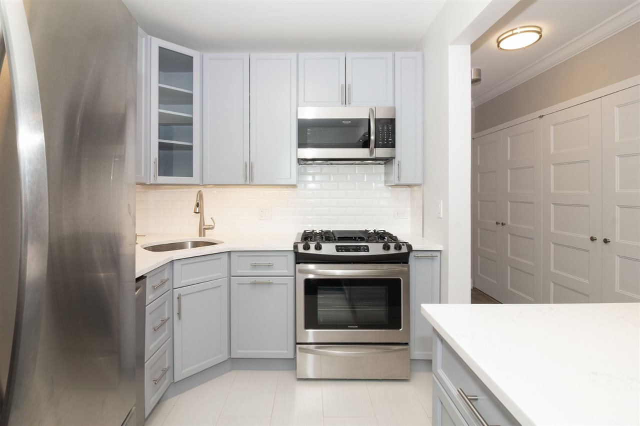 One of a kind. Brand new, fully gutted and renovated condo floor to ceiling, this apartment exemplifies luxury living at its finest. Located at the prestigious Emerald directly on the beautiful waterfront in downtown Jersey City accompanied with magnificent skyline views of NYC. Featuring 2 full bedrooms and 1.5 baths. Prime location, only one block away from Newport Path Station, offering only a 7 minute commute to NYC! Sun drenched, large open contemporary floor plan with custom crown molding and new flooring throughout. Professionally designed, custom kitchen features high end cabinetry, white quartz countertops, subway backsplash tile and brand new stainless steel appliances, plus more. Both bathrooms are custom designed with a sleek and contemporary look, including all high end designer bathroom fixtures. Also, an exhaust fan in both the kitchen and bathroom have been professionally installed for ventilation and moisture control, a rare desired perk. Large master bedroom includes custom full walk in closet. All of the closets also recently remodeled with custom shelving, including a convenient large pantry adjacent to the kitchen. All windows in the apartment have been professionally installed with added insulation and double panel windows to protect and prevent against draft, sound proof the apartment and be more energy efficient, resulting in cheaper utility bills. Entire apartment is fully equipped with Alexa for lighting and other modern day luxuries and conveniences. Building also just had all of the common hallways completely renovated August 2019. Unit is able to convert to 3 Bedrooms. Pet friendly. Ample closet and storage space. Building amenities include fitness center, daycare, entertainment room, movie theater and more. Close to all major transportation, schools, shops, parks, restaurants and more.