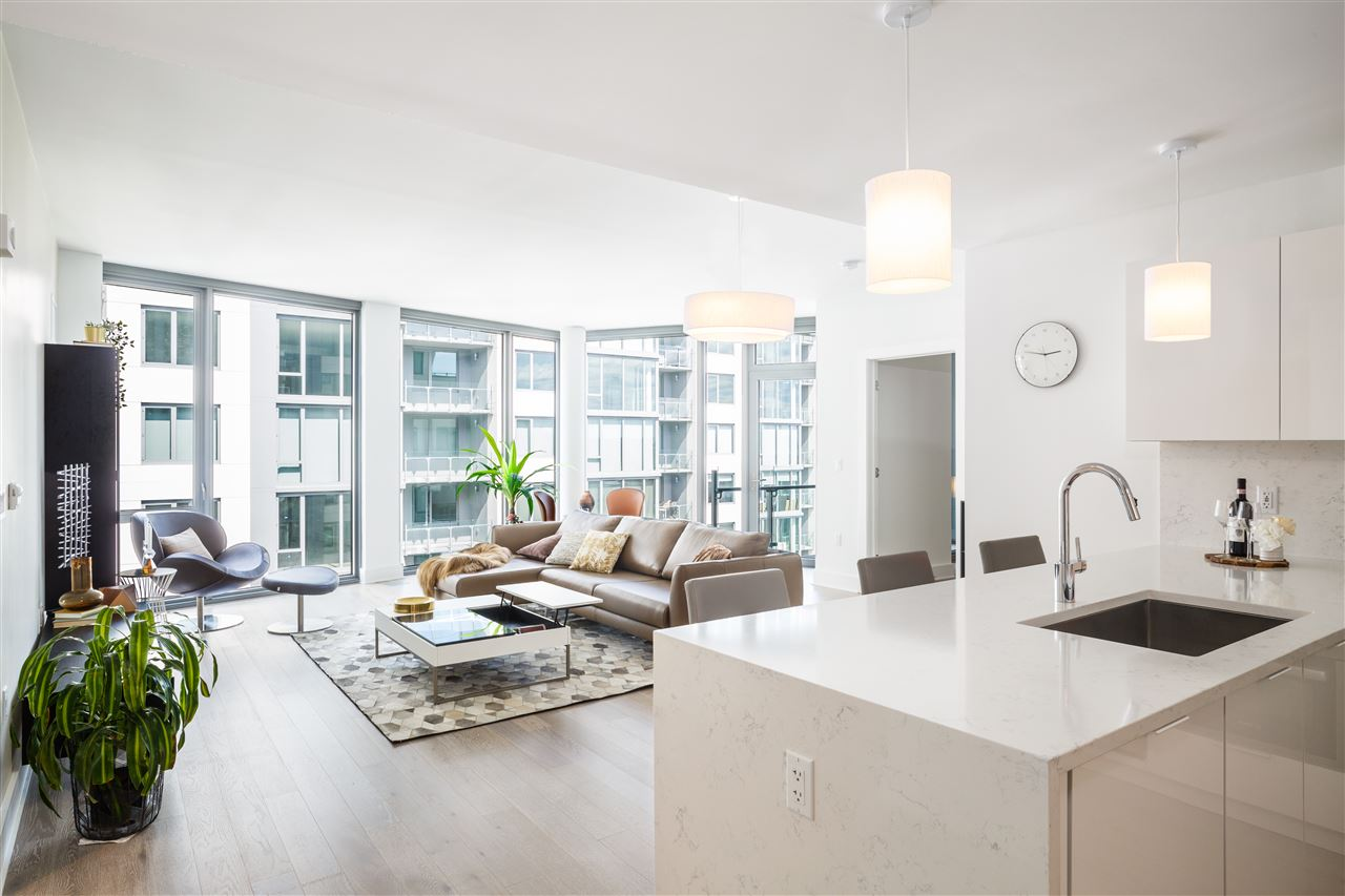 Nine on The Hudson - Discover the most premier and luxurious new construction building along the NJ Gold Coast. This beautifully designed luxury building features breathtaking views of NYC, resort-style amenities, and floor plans that fit even the most discerning buyer. This unit specifically is approx 1,504 SqFt with 2 Bedrooms / 2 Bathrooms, balcony and garage parking. The expansive kitchen includes Aspen quartz countertops, Pedini cabinets, Bosch appliances, and Thermador fridge. Wood flooring throughout, in-unit washer/dryer, expansive closet space and oversized windows allowing for sunlight all day. The building features 24 hour doorman, state-of-the-art fitness center, amenity deck with infinity swimming pool and BBQ area, rooftop deck with cabanas, shuttle to/from Ferry, and a 20 year tax abatement program. First 10 years of taxes are 1.1% of purchase price! WOW...Welcome home to Nine on the Hudson!
