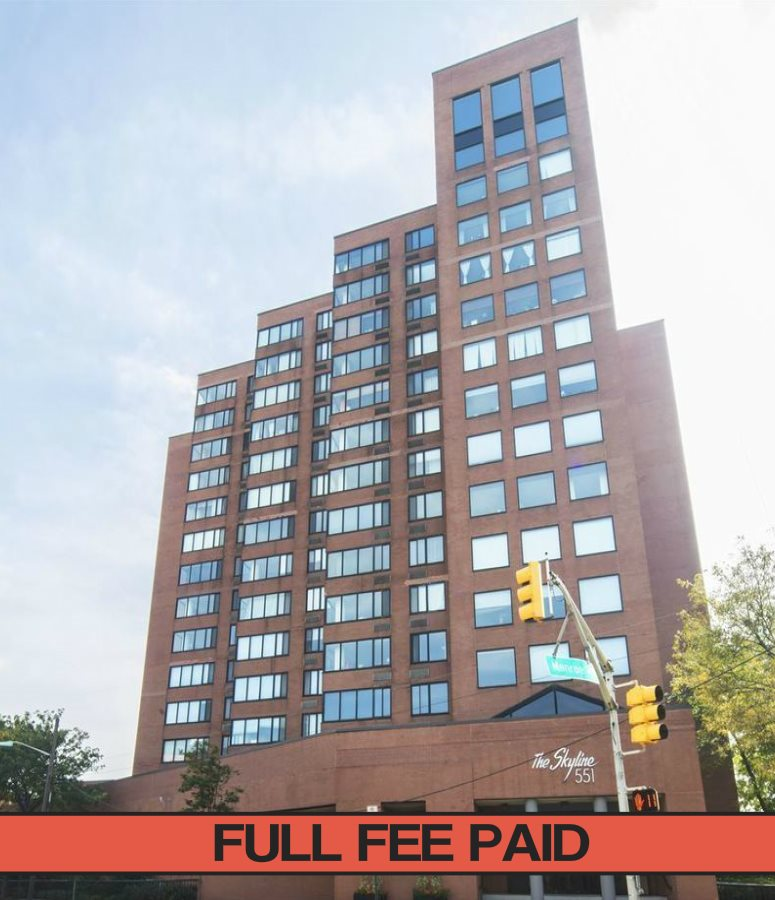 Available 11/1. FEE PAID FOR 11/1 MOVE IN.  Large 3BR/2Bath w/parking and large deck. 3BR/2Bath Apt in the Skyline condos. 1200 Sq ft Apt. Large balcony, Good size rooms, breakfast bar. parquet floors. Large windows in all rooms, lots of closet space. W/D on each floor. HVAC, Valet Parking, Doorman. Nice gym & sundeck in Bldg. Shuttle to PATH.   1 Small pet may be allowed at landlords discretion. Apartment will be professionally cleaned and all repairs made for new tenants.    THERE IS A MOVE IN FEE OF 250 AND A MOVE OUT FEE OF 250 NON REFUNDABLE. PAID BY TENANT.