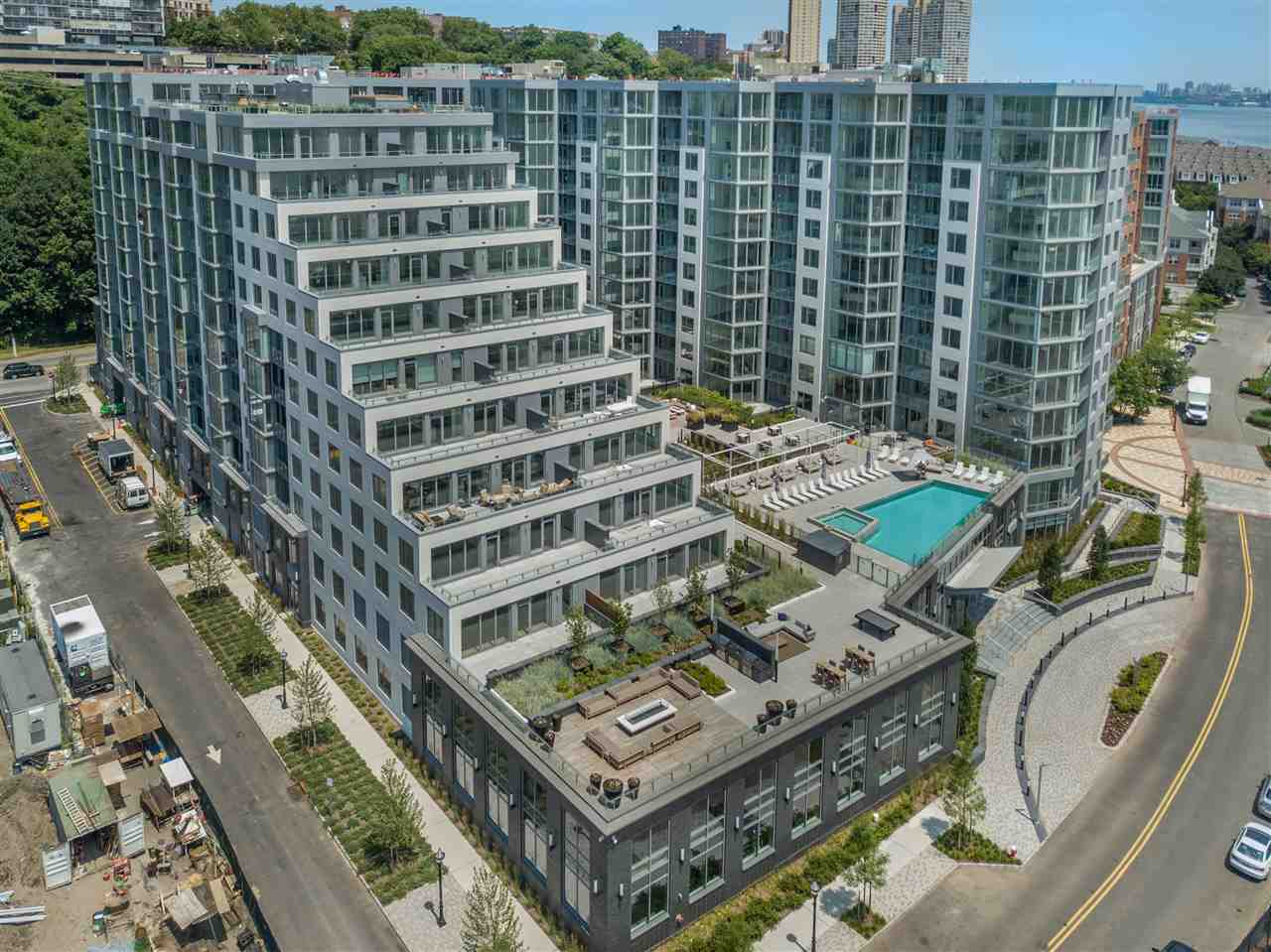 A 20 year tax abatement program on this new construction of 278 residences by K Hovnanian makes this a winner. Come and see exceptional luxurious waterfront living at 9 on The Hudson that are thoughtfully designed with quality crafted details and spacious open floor plans. Home features include 2bed 2 bath+den, floor-to-ceiling over-sized windows, beautiful white oak flooring throughout, Gourmet chefs kitchen with custom Pedini cabinetry, Aspen Quartz counter tops, Bosch and Thermadore appliances, bathrooms with Carrera marble, quartz vanity counter tops and Moen rain shower heads. Exceptional resort style amenities include a 24/7 concierge, a stunning infinity pool with a lounge and BBQ area, 2 floors of state of the art fitness center, golf simulator and a sprawling roof top lounge with a breathtaking panoramic view of the Manhattan skyline. Your ideal next home.