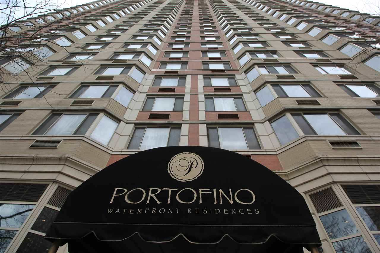 Lovely studio apartment available at the Luxurious Portofino. This cozy unit features nice hardwood floors, ample closet space & in-unit washer/dryer. Parking for 1 car included in rent. Rent includes cable & Internet. Portofino is a full service, pet-friendly waterfront building with 24 hr concierge, gym, pool, tot-room, community room, BBQ patio. It has easy access to Newport Pavonia & Exchange Place PATH trains, Light Rail & Ferry. Broker's fee is 1-month rent to be paid by tenant.