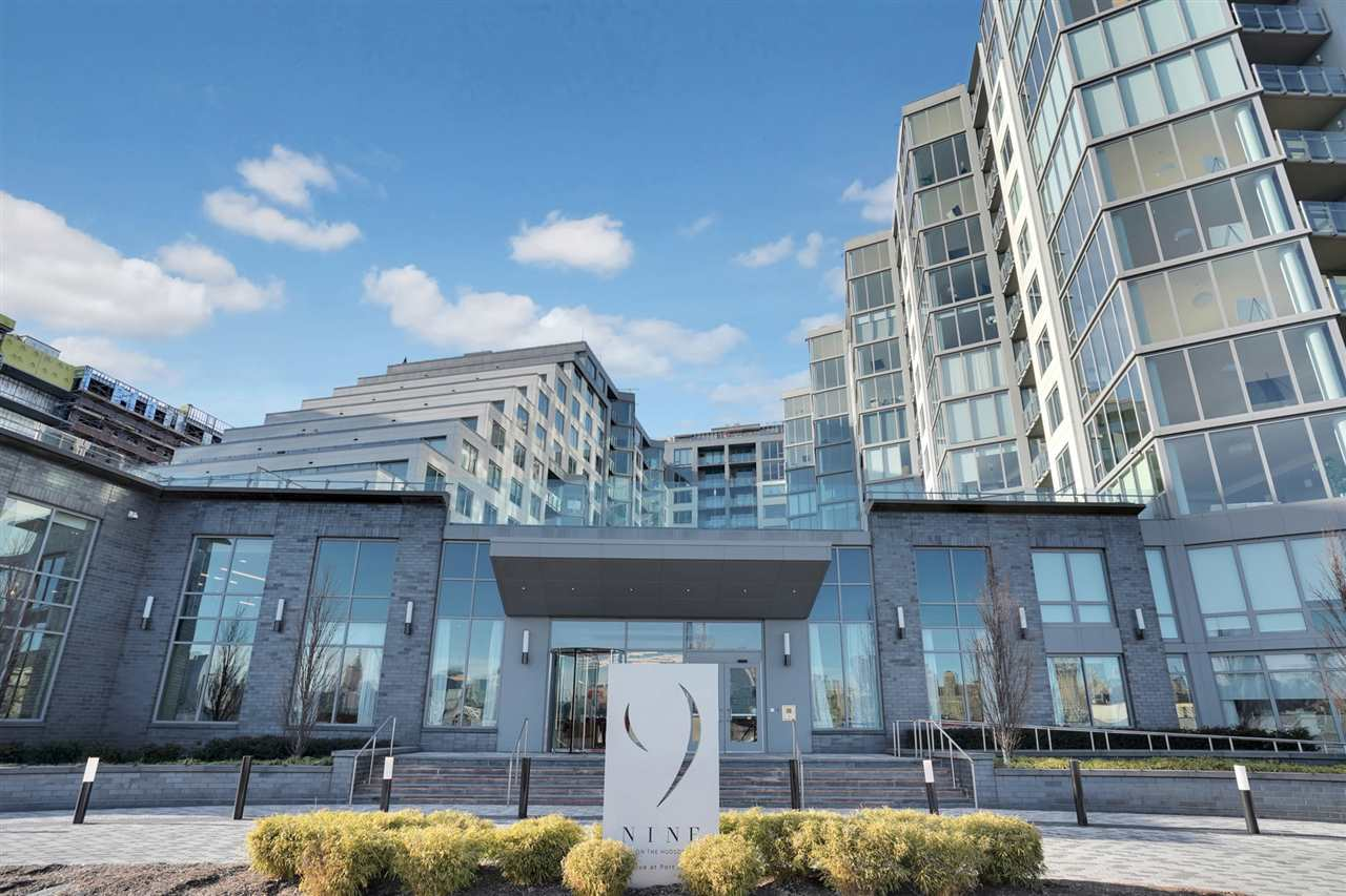 Nine on Hudson - most desirable new construction condos along the waterfront. This 2bdr/2bth open floorplan offers floor to ceiling windows with NYC skyline views . The interior details include wood floors, Pedini cabinetry, quartz counters, Carrera marble, Bosch & Thermador appliances. Unbelievable amenities include 24-hour Doorman service,  state-of-the-art fitness center,  rooftop deck,resident lounges, business center, kids playroom,pet grooming facility & a promenade deck with a infinity edge pool, lounge and BBQ areas. Walk to shops, restaurants & the ferry, Free shuttle as well tot he ferry The best  PILOT program - in the area! there is a 20-year tax abatement program.