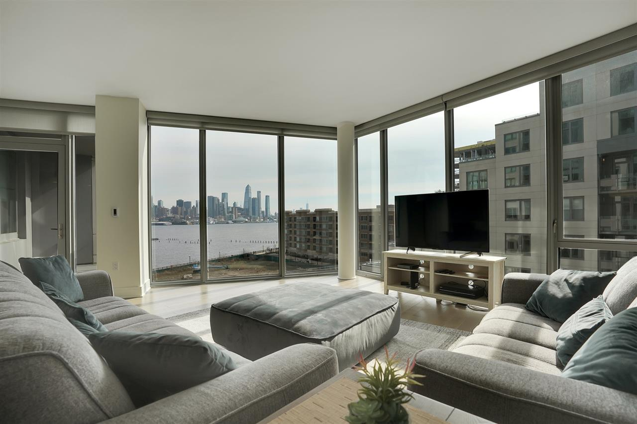 Nine on Hudson - most desirable new construction condos along the waterfront. Unbelievable NYC South/east views! 2bdr/2bth open floorplan offers floor to ceiling window. The interior details include wood floors, Pedini cabinetry, quartz counters, Carrera marble, Bosch & Thermador appliances. Unbelievable amenities include 24-hour Doorman service, state-of-the-art fitness center, rooftop deck,resident lounges, business center, kids playroom,pet grooming facility & a promenade deck with a infinity edge pool, lounge and BBQ areas. Walk to shops, restaurants & the ferry, Free shuttle as well tot he ferry The best PILOT program - in the area! there is a 20-year tax abatement program.