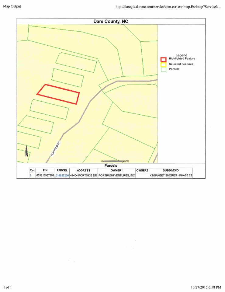 41404 Portside Drive, Avon, NC 27915, ,Lots/land,For sale,Portside Drive,90077