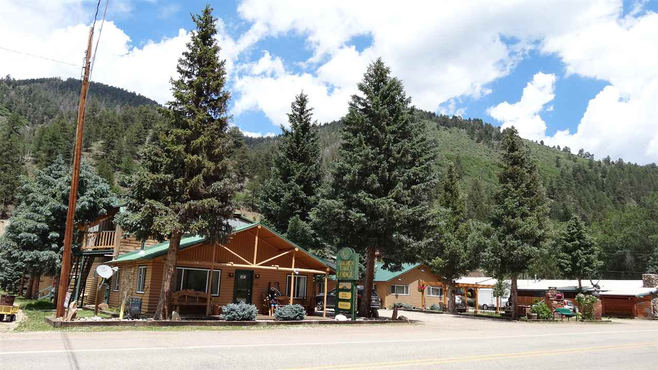 REDUCED $50,000 !!!! WANT TO OWN YOUR OWN BUSINESS, LIVE AND WORK IN A SMALL MOUNTAIN RESORT TOWN -THEN THIS IS IT: Two side by side lodges FULLY FURNISHED and all 42 UNITS being rented, size of available rooms are: 4 bdrms, 4 baths to motel style and all sizes in between. Some rooms have FIREPLACES AND FULLY EQUIPPED KITCHENS. Other amenities: 2 manager owner apartments, 2 comm. laundry rooms, 3 outdoor areas with fire pits, pergola w/tables & chairs, kids play area, two INDOOR AREAS FOR GROUPS with full kitchens and wood burning stove/fireplace. Located at the edge of town (close enough to walk, or ride the FREE Miner's Transit Trolley). The town of Red River has: fine dining, shopping, entertainment, skiing, hiking, fishing, horse back riding, and lots of other activities for the young and young at heart.  Perfect get away for couples, family reunions, group gatherings & weddings.  Website at www.redriverlodges.com