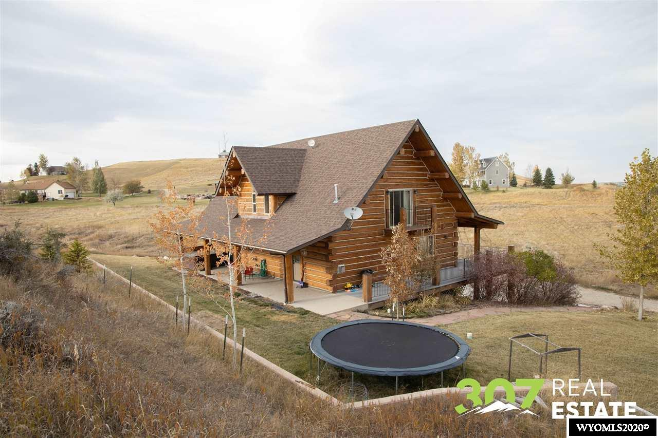 Beautiful Wyoming Log home.  Scenic rural area with close proximity to Bighorn and Sheridan.